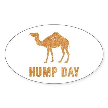 Vintage Hump Day Sticker (Oval)