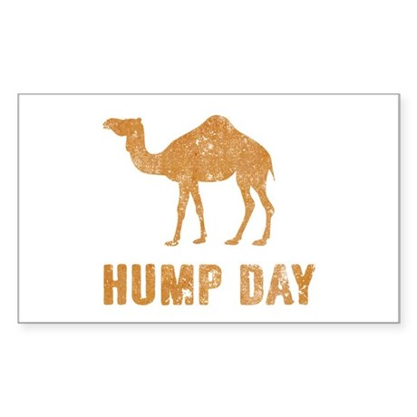 Vintage Hump Day Sticker (Rectangle)