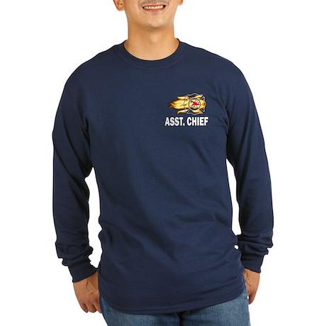 Assistant Fire Chief Long Sleeve Dark T-Shirt