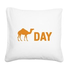Hump Day Camel Square Canvas Pillow