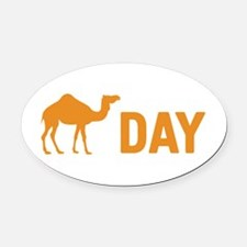 Hump Day Camel Oval Car Magnet