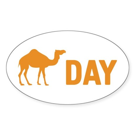 Hump Day Camel Sticker (Oval)