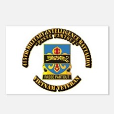 DUI - 415th Military Intelligence Battalion Postca