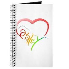Haley rainbow heart Journal