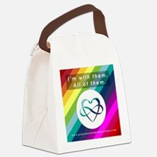 I'M WITH THEM Canvas Lunch Bag