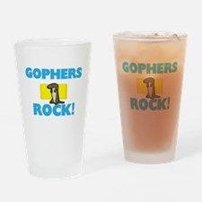 Gophers rock! Drinking Glass