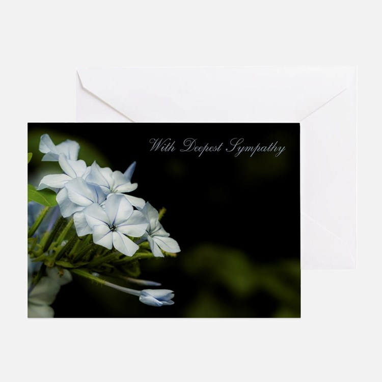White Flower With Deepest Sympathy Greeting Card