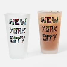 New York City Street Art Drinking Glass