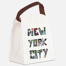 New York City Street Art Canvas Lunch Bag