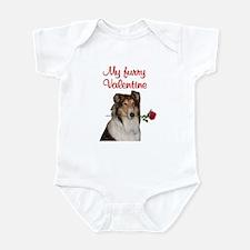 Furry Valentine Collie Infant Bodysuit