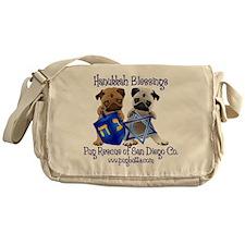 Hanukkah Dreidel Pugs Messenger Bag