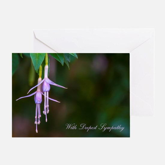 Pink Fuschia Deepest Sympathy Greeting Card