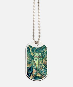 African Antelope 2-Green Dog Tags