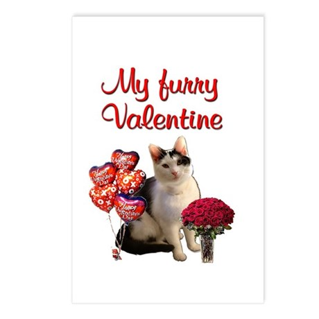 Furry Valentine Cat Postcards (Package of 8)