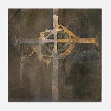 """Crux"" Cross Tile Coaster"