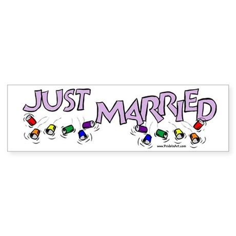 Just Married Gay Rights Bumper Sticker