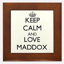 Keep calm and love Maddox Framed Tile