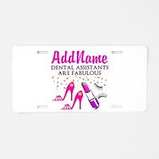 SUPER DENTAL ASST Aluminum License Plate