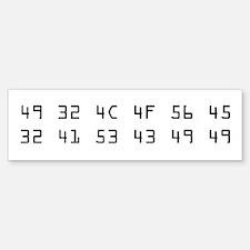 I Love ASCII Bumpersticker