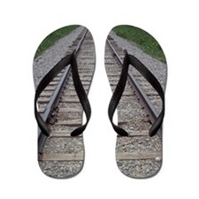 Railroad Tracks Flip Flops