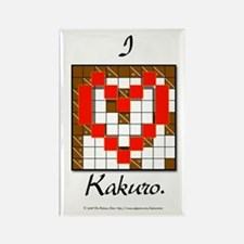 I Love Kakuro Rectangle Magnet