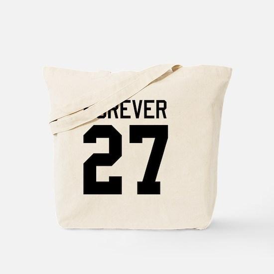 forever27-black Tote Bag