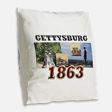 ABH Gettysburg Burlap Throw Pillow