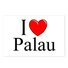 """I Love Palau"" Postcards (Package of 8)"