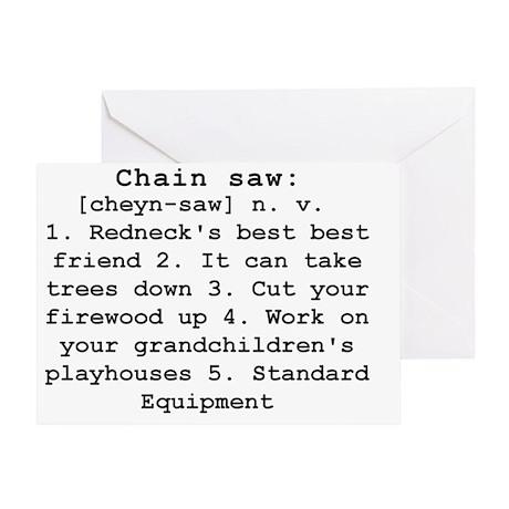 Chain Saw Definition Greeting Card