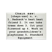 Chain Saw Definition Rectangle Magnet