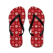 Roses And Hearts Flip Flops
