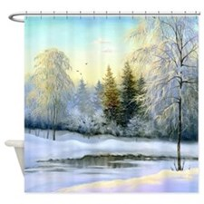 Beautiful Winter Painting Shower Curtain