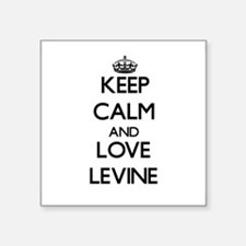 Keep calm and love Levine Sticker