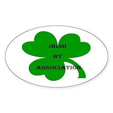 Irish by Association Oval Decal