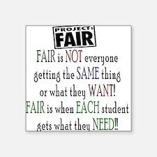 Fair Rectangle Sticker