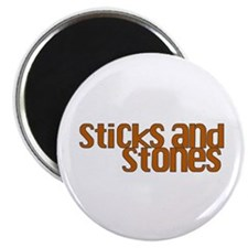 Sticks and Stones Magnet