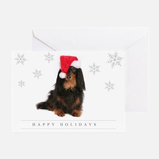 Unique Dachshund santa Greeting Card