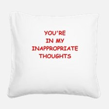 dirty mind Square Canvas Pillow