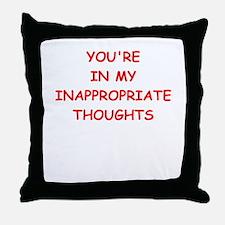 dirty mind Throw Pillow