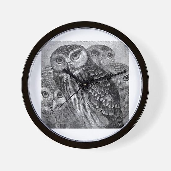Vintage owls Wall Clock