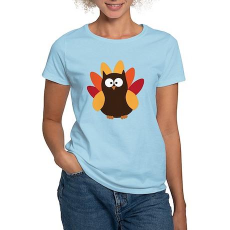 Thanksgiving Owl Women's Light T-Shirt