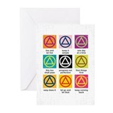 Alcoholics anonymous Greeting Cards (10 Pack)