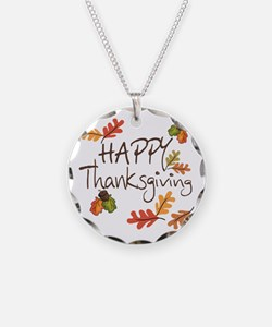 Happy Thanksgiving Necklace