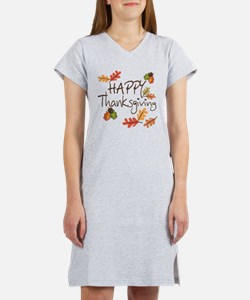 Happy Thanksgiving Women's Nightshirt