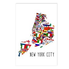 New York City Ethnic Map Postcards (Package of 8)