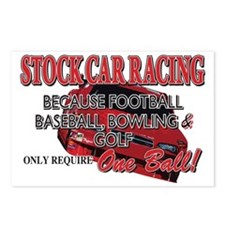 One-Ball-Stock-Car Postcards (Package of 8)