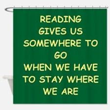 reading Shower Curtain