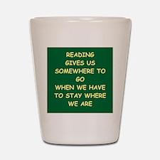reading Shot Glass