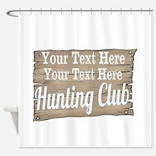 Vintage Hunting Club Shower Curtain