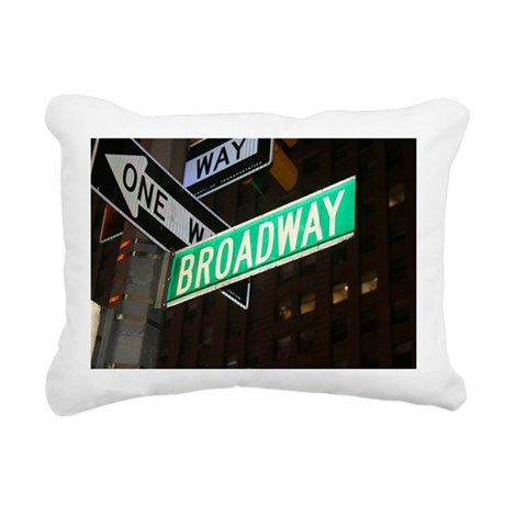 broadway3 Rectangular Canvas Pillow